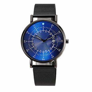 Evansamp Montre à quartz pour homme, chronographe avec cadran multiple. B