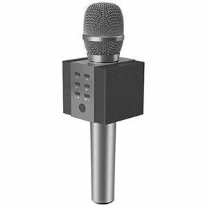 LIWEILA Microphone sans Fil Bluetooth de karaoké, Puissance Plus Forte du Volume 10W, Plus de Basses, pour iPhone/Android/iPad/PC,Noir