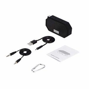 Momorain LESHP Portable Mini Etanche IP66 Antichoc sans Fil CSR 4.0 Etanche avec Micro pour Exercice Intérieur & Extérieur