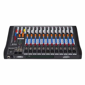 Olibelle Table De Mixage Table De Mixage Audio 12 Canaux Table De Mixage USB Table De Mixage USB Studio