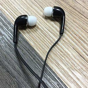 S4Wired écouteurs stéréo musique casque intra-auriculaires casque avec microphone bouchons d'oreilles écouteurs pour téléphone ordinateur mp3(Noir)