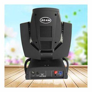 YEAHMO LED RGBW scène Spotlight, Moving Head Light 230W DMX512 Voix 17 Motif 14 couleur + lumière blanche 16/20 Canal arc-en-disco KTV éclairage Projecteur de scène (Color : Package B(2PCS))