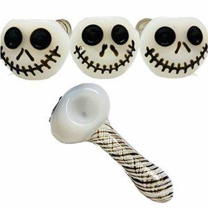 Décorations d'halloween Tête en Verre Tête Tuyau en Verre Sifflet Brûleur À Huile Tuyaux Fumeurs Accessoires pour La Fête Beau Cadeau