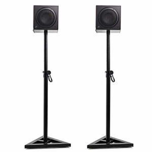 FOBUY Moniteurs de studio, haut-parleurs, réglages de la hauteur et de la position, rotation