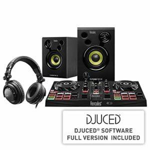 Hercules DJLearning Kit – Contrôleur DJControl Inpulse 200 – Casque DJ HDP DJ45 – Enceintes de Monitoring DJMonitor 32