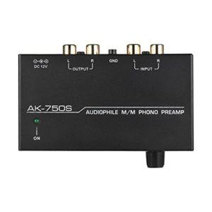 Kalaok Audiophile M/M Préamplificateur phono préampli avec contrôles de niveau Interfaces d'entrée et de sortie RCA