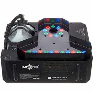 LED Machine à Brouillard Machine à Fumée Machine avec Télécommande sans Fil Lumières Colorées Idéal pour Les Fêtes Les Discos DJ Les Bars Les Mariages 1500W 41.7X38.2X20.5cm