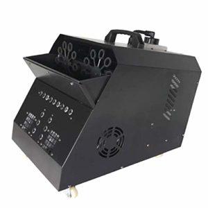 Machine de Bulle Automatique Machine Professionnelle avec Les Lumières de LED Télécommande sans Fil avec La Lampe D'effet D'étape pour des Parties Mariages Disco 53 * 50 * 41cm