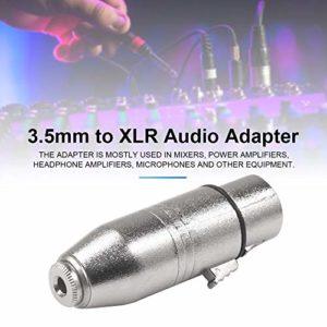 Micro XLR 3.5 Femelle vers XLR Femelle Adaptateur SA533 avec Boîtier en Alliage De Zinc pour Mélangeurs Amplificateurs De Puissance Microphones