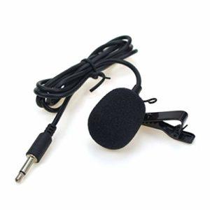 Momorain 3.5mm Mini Casque Microphone Lapel Lavalier Clip Microphone pour Lecture Enseignement Guide De La Conférence Studio Mic