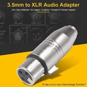 niyin204 Adaptateur 3.5 Femelle vers XLR Femelle en Alliage de Zinc Boîtier pour mixeurs amplificateurs de Puissance amplificateurs pour Casque Microphones et Autres équipements judicious