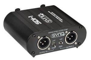 Synq SDI-1 Entrées RCA + Combo de Jack/XLR et Sorties XLR Mâle Noir