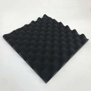 Traitement de mousse acoustique 30x30cm Insonorisation Éponge insonorisante en coton insonorisant Excellente isolation acoustique (noir)