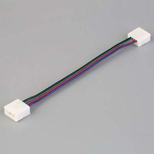 10 mm Largeur PCB facile Connecteur avec câble RGB pour 5050 Lights bande soudure sans se connecter facilement avec deux extrémités connecteur LED