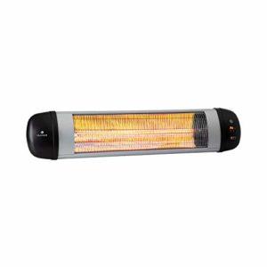 Blumfeldt Rising Sun Zenith – Radiateur infrarouge, 2500W, IP34, Télécommande, Argent