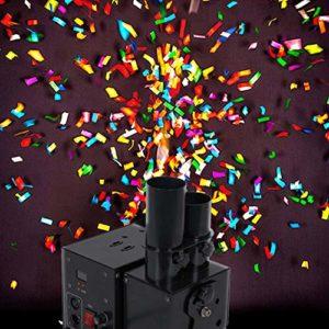 DMX Machines à Confettis avec Effets et Commande sans Fil Profesional pour Les Concerts de Mariage de Fête Événements Spéciaux Effet de Scène Confetti Shot Shooter