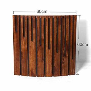 Zxllyntop Diffuseur Acoustique Panneaux en Bois Panneaux acoustiques sonores Diffuseur décoratif Son Absorption Panneaux acoustiques Studio Home Theater 4 Paquet