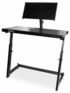 Vonyx Pied Support Pour DJ • Indispensable pour tous les DJ • Deck réglable • Facile à monter • Très résistant • Idéal pour tables de mixages, decks, contrôleurs et autre équipement de DJ