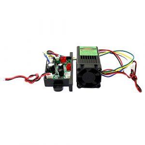 100mW laser vert 532nm 12V Dot Module ventilateur de refroidissement TTL temps 0-30 KHZ-Long travail