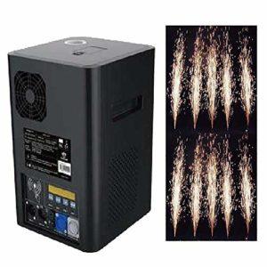 400W Machine à éTincelles éLectronique Intelligente,Stage Spark Machine Pour Le Concert De Partie,Flamme Froide Simulateur De Feux D'Artifice,DMX-512 / ContrôLe à Distance,stereoscopic