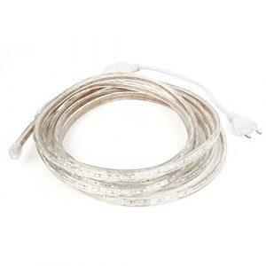 AC 110-220V UE SMD Connecteur Jaune 3528 300 Flexible Strip LED 5M