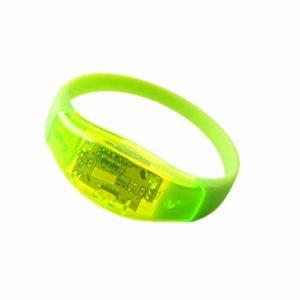 Activé Contrôle Du Son Led Clignotant Bracelet Light Up Bracelet Bracelet Club Party Bar Cheer Lumineux Anneau À La Main Glow Stick