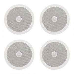 Adastra C6D Lot de 4 Haut-parleurs de Plafond 6,5 avec Tweeter directionnel 100 W