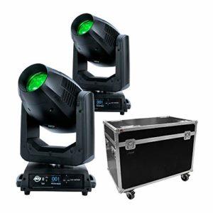 ADJ Vizi CMY 300 Lot de 2 têtes de mouvement LED hybrides 300 W avec étui de transport
