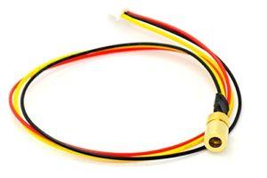 Ajusté 5V 980nm 30mw Infrarouge IR Laser Point Diode Module avec TTL 0-15KHz 8x13mm