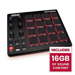 AKAI Professional MPD218 Contrôleur USB /MIDI avec 16 Pads Type MPC + Série de Logiciels de Création Incluse