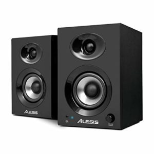 Alesis Elevate 3 MKII – Paire d'Enceintes Multimédia 60 W avec Bass Boost pour Création Vidéo, Gaming, Musique sur PC et MAC