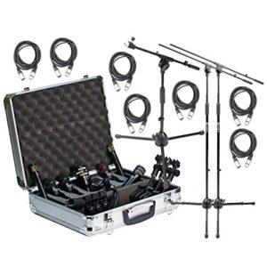 Audix Dp7complet tambour Bundle Micro avec Stands et câbles XLR