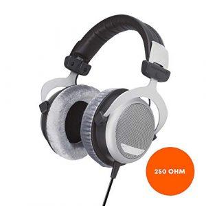 beyerdynamic DT 880 Edition 250 Ohm Over-Ear-Stereo Headphones. Design semi-ouvert, câblé, haut de gamme, pour le système stéréo
