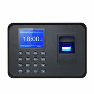 Biométrique d'empreinte digitale machine de présence d'empreintes digitales USB Ecran LCD système Horloge employé check-in Recorder