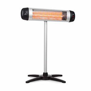 Blumfeldt Rising Sun Chauffage d'appoint – Trois réglages de chaleur , Elément chauffant en fibre de carbone , Diffusion de chaleur rapide , Niveau : 850/1650/2500 W , Fonte d'aluminium