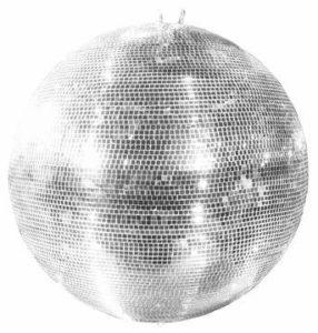 Boule à facettes GLIX avec facettes en verre authentique, Ø 150 cm, argent – Boule disco géante / Lampe disco – showking