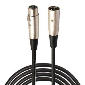 Câbles micro de qualité impressionnante 3 m XLR 3 broches mâle vers câble XLR femelle micro blindé câble audio