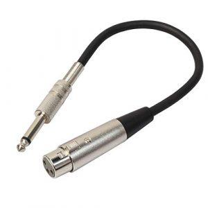 Câbles micro de qualité impressionnante 30 cm XLR 3 broches femelle à 1/4 pouce (6.35mm) fiche mâle stéréo TRS Microphone Câble de cordon audio