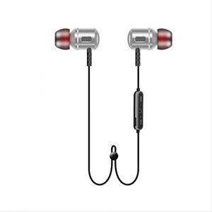 Casque sans fil, casque Bluetooth de sport 5.0 sans fil, casque stéréo, appareil Bluetooth adapté pour les téléphones portables/ordinateurs Blanc argenté