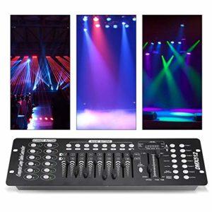 Contrôleur lumières LED opérateur DMX 192canaux 240scènes contrôle mariage Bar Console gradateur pour lumières de scène discothèque fête anniversaire mariage Noël
