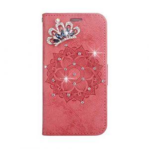 Coque Galaxy S8, SONWO Premium PU Cuir Portefeuille de Protection Étui avec Fentes de la Carte pour Samsung Galaxy S8, Rouge