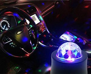 cuzile Auto et Moto Accessoires (USB Voiture Disco de lumière)