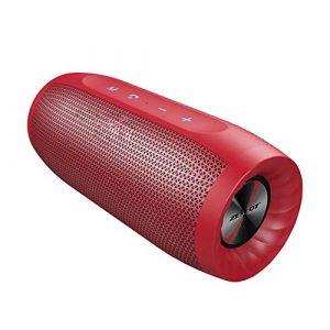 CZX S16 Colonne Haut-Parleur Bluetooth sans Fil d'extérieur Barre de Son Caisson de Basses Haute Puissance Haut-parleurs Portables étanches + SD Fente pour Carte,b
