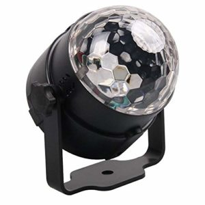 EasyBuying Sound Active Mini RGB LED Crystal Magic Ball Effect Light Stage Light US CN