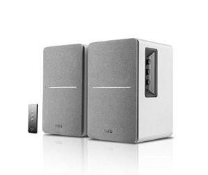 Edifier R1280T Blanc- Enceintes Studio et Bibliothèque Actives 42W, Télécommande IR, 2 Entrées RCA, Ampli Intégré, Pour PC, Portable, Mac, Téléphone et Hi-Fi