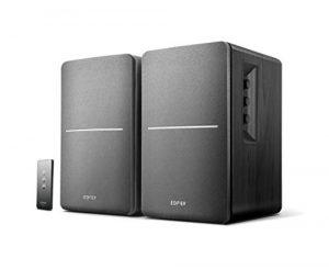 Edifier R1280T Noir- Enceintes Studio et Bibliothèque Actives 42W, Télécommande IR, 2 Entrées RCA, Ampli Intégré, Pour PC, Portable, Mac, Téléphone et Hi-Fi