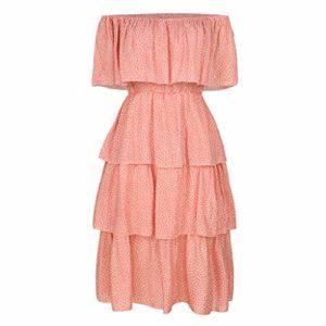 ELECTRI Robe D'été Sexy Femme Mini Robe Épaules Nus Robe Courte Imprimé Florale Rétro Petite Robe Manches Courtes Robe Fleurs Vintage