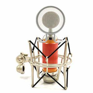 ETbotu Microphone à condensateur professionnel pour enregistrement rosso-arancio