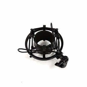 ETbotu Microphone universel avec support pour montage à choc. Isolation haute vibration pour microphone à condensateur de studio Noir