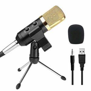 EXCLVEA Porte-Tablette pour Stand Microphone USB À Condensateur Son Dynamique Audio Enregistrement Vocal Microphone Mic avec Fixation du Support (Couleur : Noir, Taille : 15.2 x 5cm)